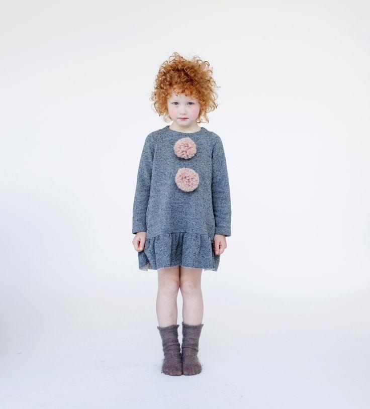 Pom Pom dress and high socks, adorable. #designer #kids #fashion