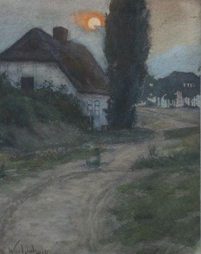 File:Friedrich Wachenhusen Morgensonne auf dem Darss Keywords: Friedrich Wachenhusen, Künstlerkolonie, Ahrenhoop, Darss, Plein Air