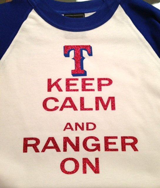 Texas Rangers Baseball Shirt by SewCr8tivechic on Etsy, $25.00