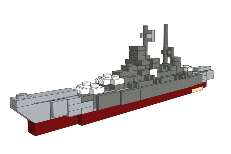 Download the Mini LEGO Scharnhorst Battleship MOC on our website!