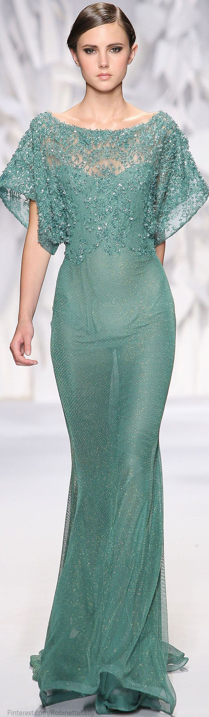 ~~ But WITH appropriate undergarments! ~~  Abed Mahfouz Haute Couture | F/W 2014