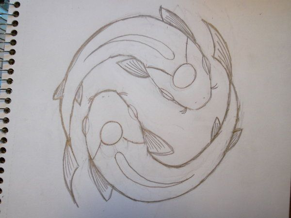 koi sketch...love the clean lines...good overhead shilouette