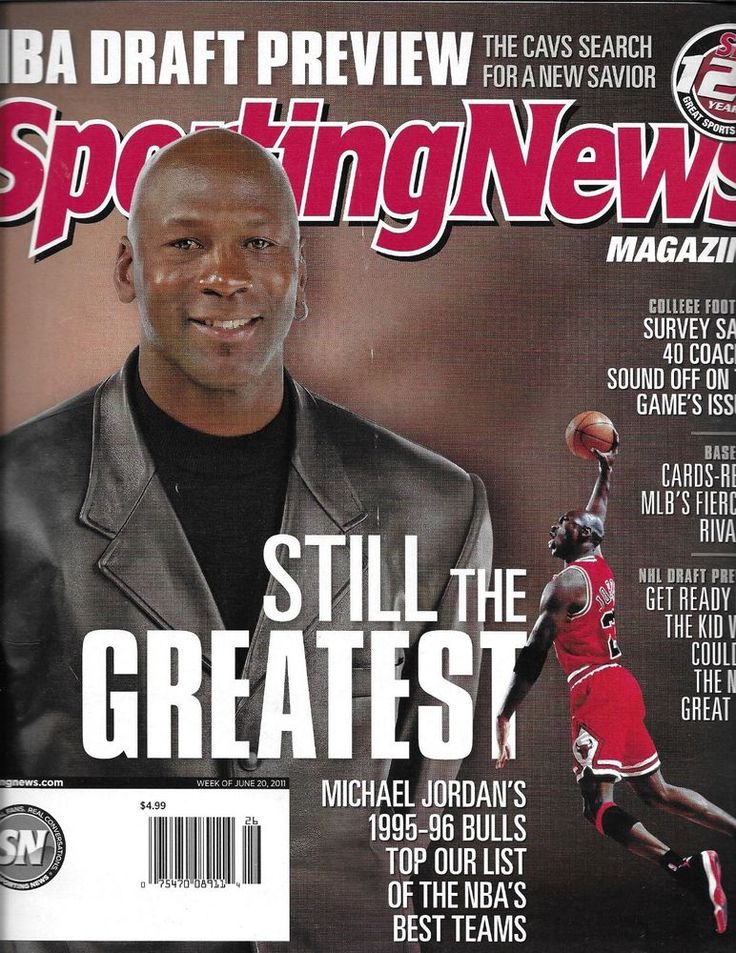 Sporting News magazine Michael Jordan NBA draft preview NHL College football