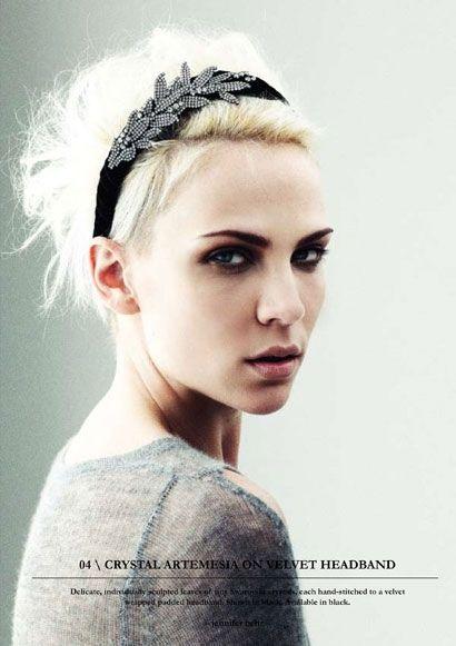 Love the headband with short hair. >> More short, holiday hair ideas.