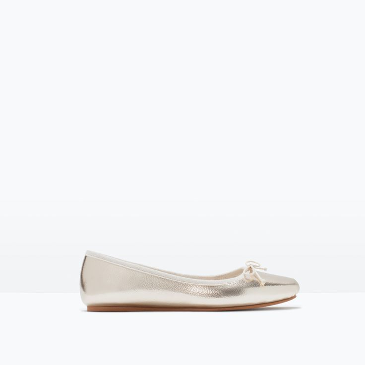 BALLERINES LAMINÉES - Chaussures plates - Chaussures - FEMME | ZARA France