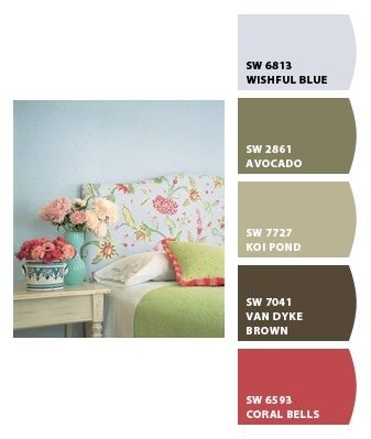 Paint colors from chip it by sherwin williams paint for Koi pond color