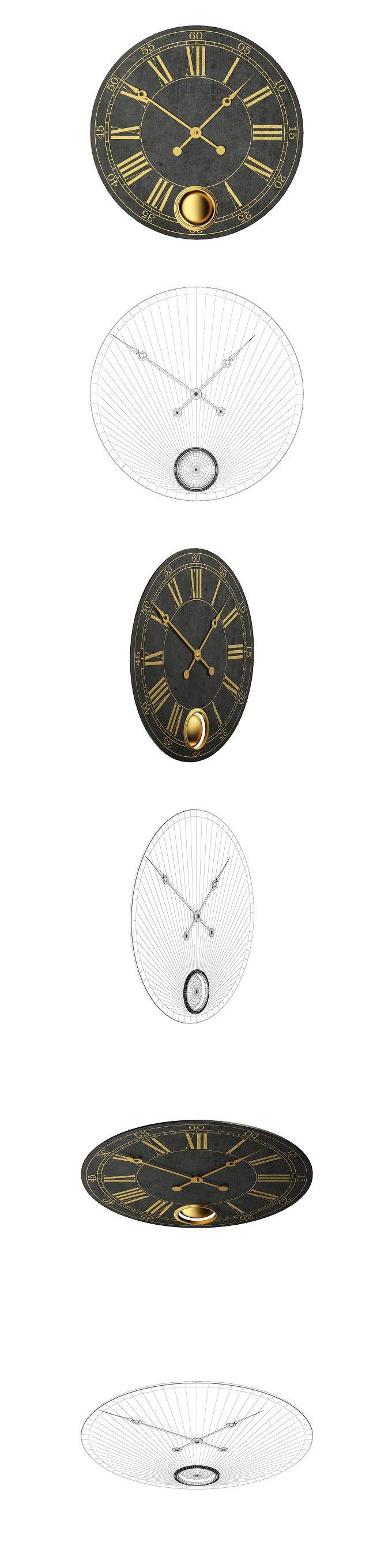 The 25 best large wall clocks ideas on pinterest large clocks large wall clock 3d objects amipublicfo Image collections