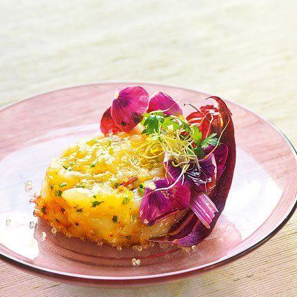 Ceviche de langoustines au citron caviar, recette de Ceviche de langoustines au citron caviar par Fabien Sam, chef au restaurant Cru Paris