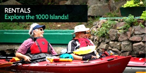 Nice aggregation of kayaking rentals and routes around Gananoque 1000 island regions.