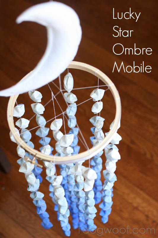 Lucky Star Ombre Mobile | One Dog Woof | #ombre #papercraft