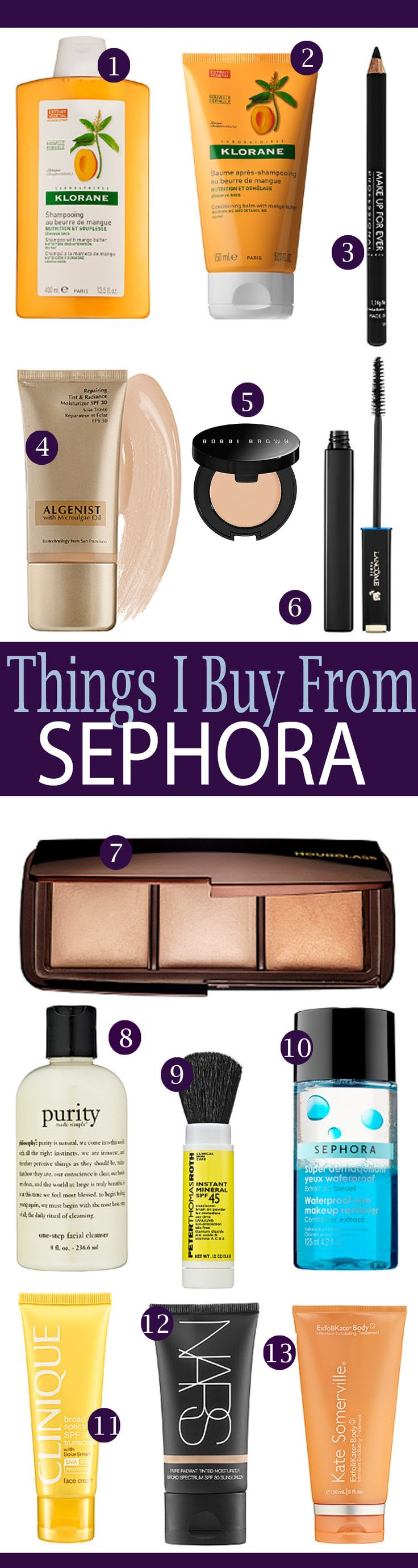 Things I buy from Sephora over and over!