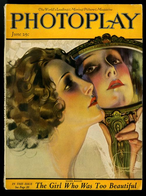 June 1922 Photoplay Magazine Cover featuring Mabel Ballin  artwork by Rolf Armstrong  via ebay.com