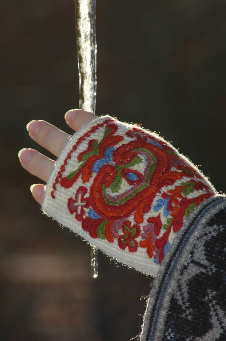 Things I love to make: Fingerless mittens from Valle in Setesdal
