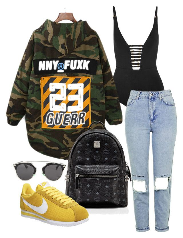 """""""Untitled #324"""" by milly-oro on Polyvore featuring Zimmermann, Christian Dior, Topshop, MCM and NIKE"""