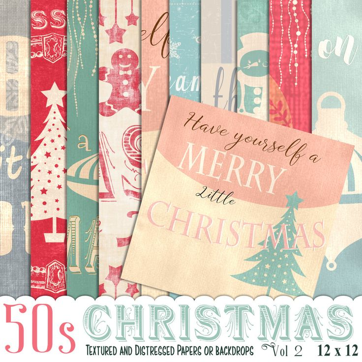 50s Christmas papers, Vintage christmas, Photo Backdrop, Christmas paper, Instant Download, Scrapbook paper,vol2,  Christmas Scrapbook by JustDigitalPapers on Etsy