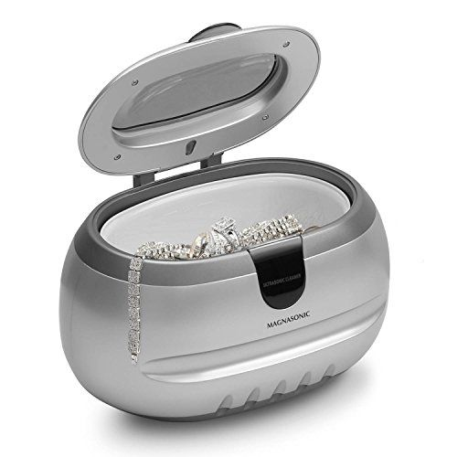 Magnasonic Professional Ultrasonic Jewelry Cleaner, 600 ml Tank, 3 Minute Timer, for cleaning Eyeglasses, Watches, Rings, Necklaces, Coins, Razors, Dentures, Combs, Tools, & Parts (UC31S) - Make your fine jewelry, eyeglasses, watches, and other household items sparkle like new with the Magnasonic Ultrasonic Cleaner. Using ordinary tap water, this cleaner safely treats your jewelry and avoids harsh chemicals and rigorous scrubbing while still leaving your items with a brilliant shine...