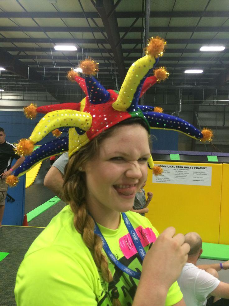 Clownin' around Get Air Wichita! Trampoline park