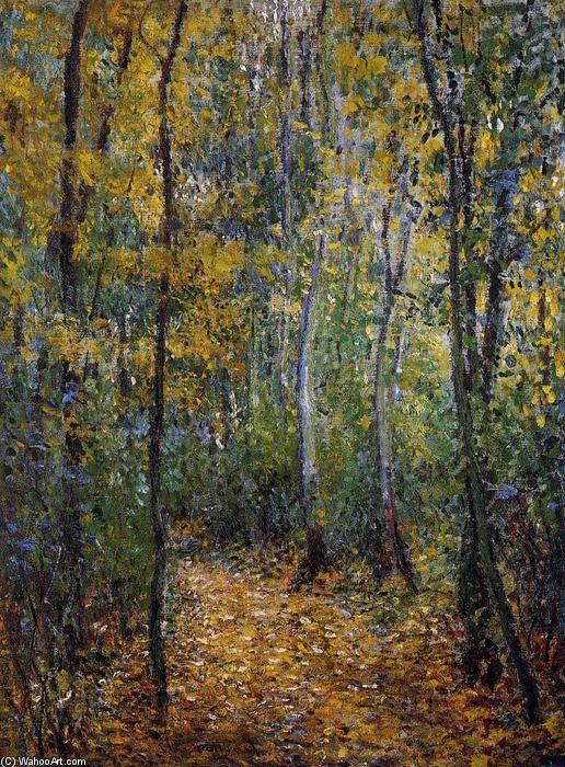 Acheter Tableau 'Wood Lane' de Claude Monet - Achat d'une reproduction sur toile peinte à la main , Reproduction peinture, copie de tableau, reproduction d'oeuvres d'art sur toile