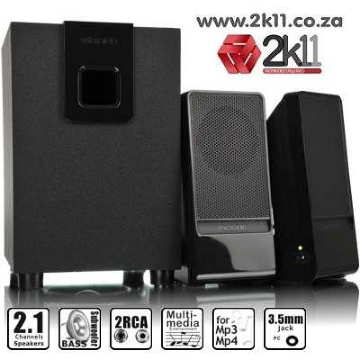Microlab M100 II - 2.1-channel subwoofer speaker - Black