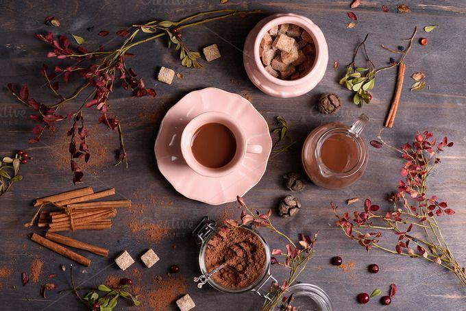 Cocoa with cinnamon by Iuliia Leonova on @creativemarket