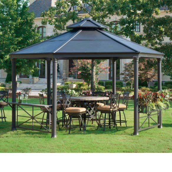 Circlet 12 Ft W X 14 D Metal Gazebo In 2019 My Collection Patio Steel