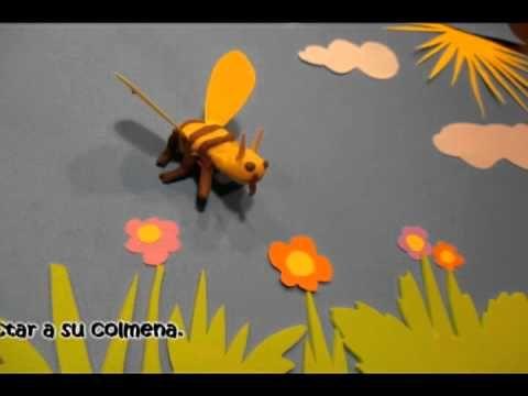 Animació que explica la fabricació de la mel i el treball de les abelles.
