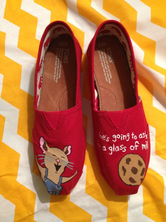 If You Give a Mouse a Cookie handpainted TOMS by StorytimeShoes, $90.00