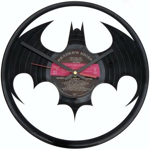 Batman LP Vinyl Clock by Uber Cool Design for sale on http://hellopretty.co.za