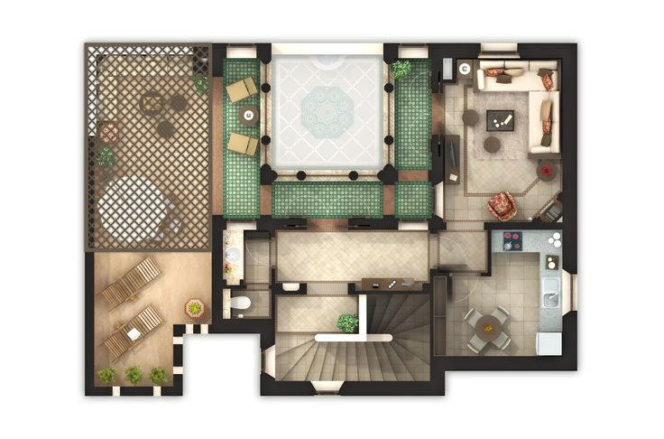 Riad 34 étage. | 3D FLOORPLANS | Pinterest | Beautiful