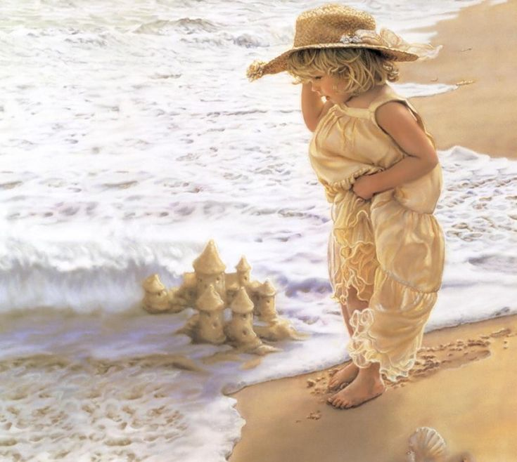 Девочки на море открытки, женщина