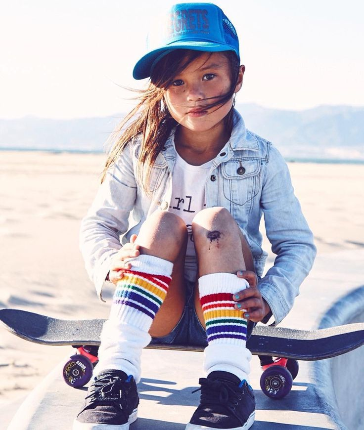 She rips on a skateboard!