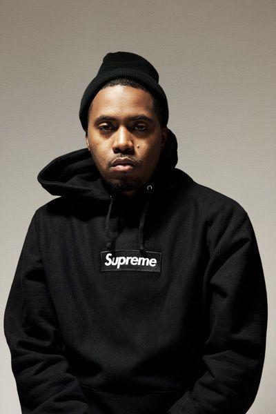 Supreme black/black hoodie