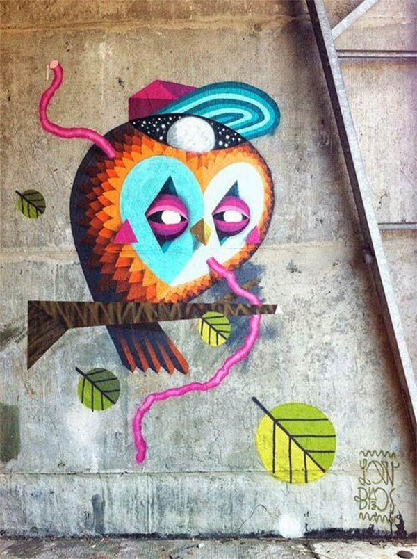 Cool urban art by Low Bros who are a team of German artists Qbrk and Nerd