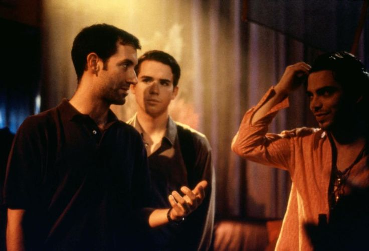 Christian Campbell (center), 1999 | Essential Gay Themed Films To Watch, Trick http://gay-themed-films.com/films-to-watch-trick/