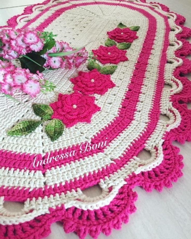 Tapete, crochê, decoração, ambiente