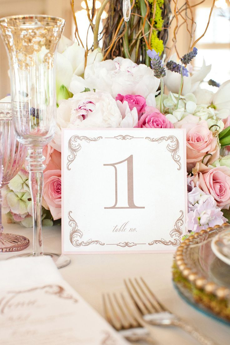27 best wedding Table Tents images on Pinterest | Table numbers ...