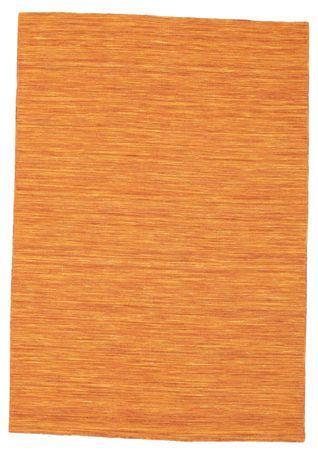 Kelim loom - oransje teppe 140x200