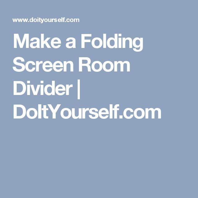 Make a Folding Screen Room Divider | DoItYourself.com