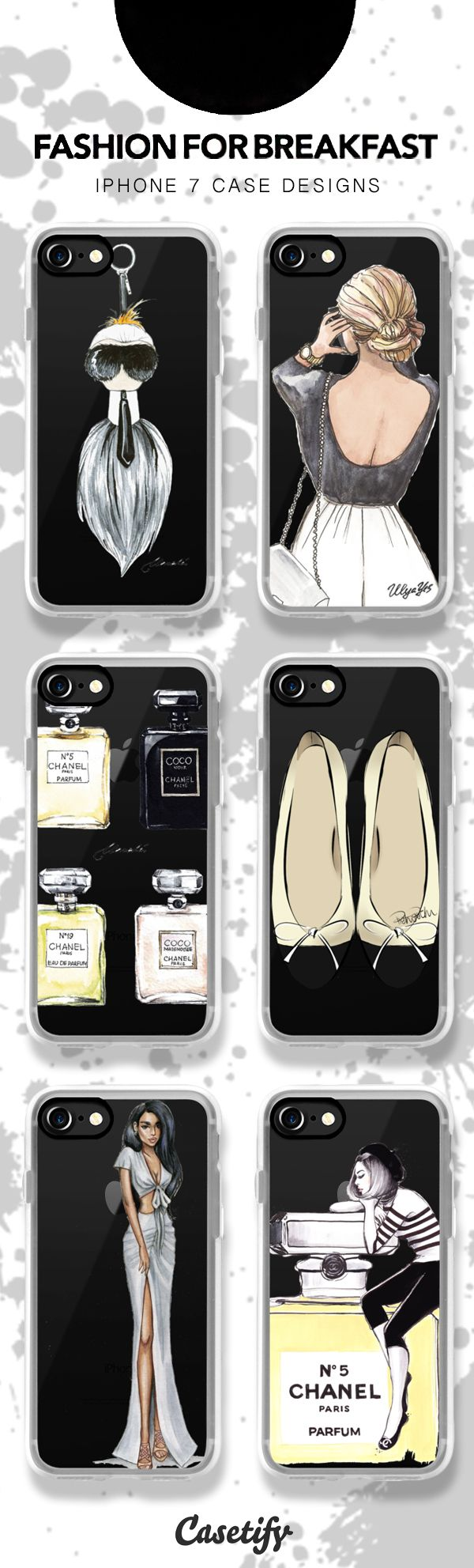 Fashion for breakfast - shop these illustrated iPhone 7 case designs here > https://www.casetify.com/artworks/HxsAFRbPap