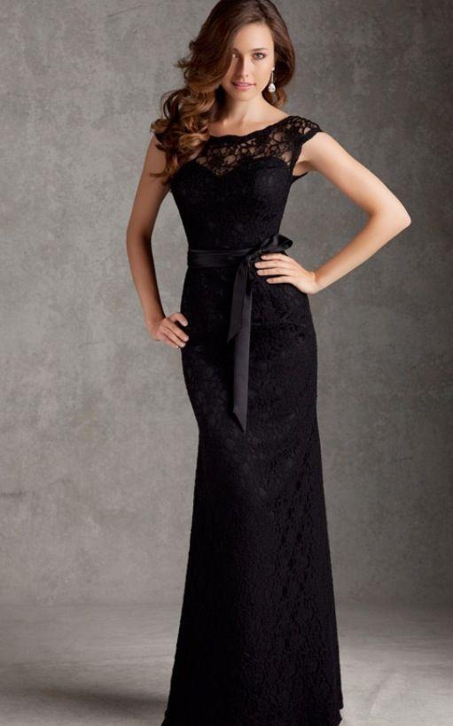 Black Lace Bridesmaid Dress But May Be Nice MOB