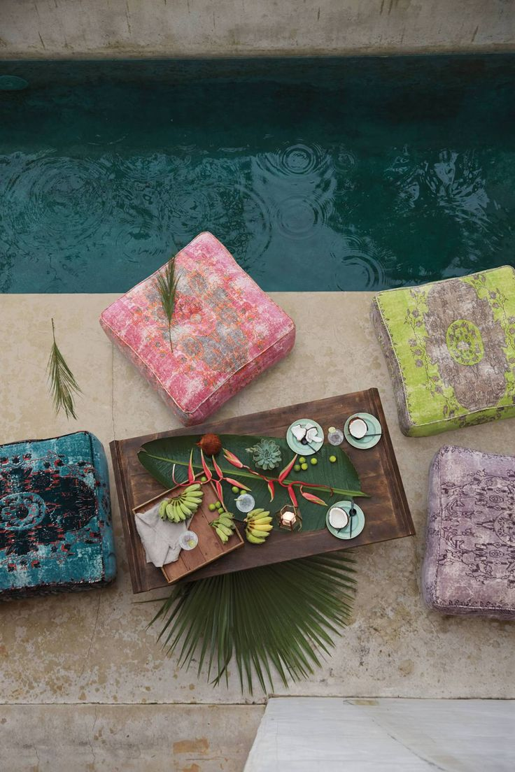 Floor Cushions Anthropologie : Pool party poufs The Great Outdoors Pinterest Floor cushions, Spring and Anthropology