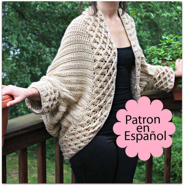 Patrón Abrigo Punto De Cocodrilo - Talla Chica hasta 5X - Patrón de crochet electronico - Permiso para vender artículos terminados. $6.00, via Etsy.
