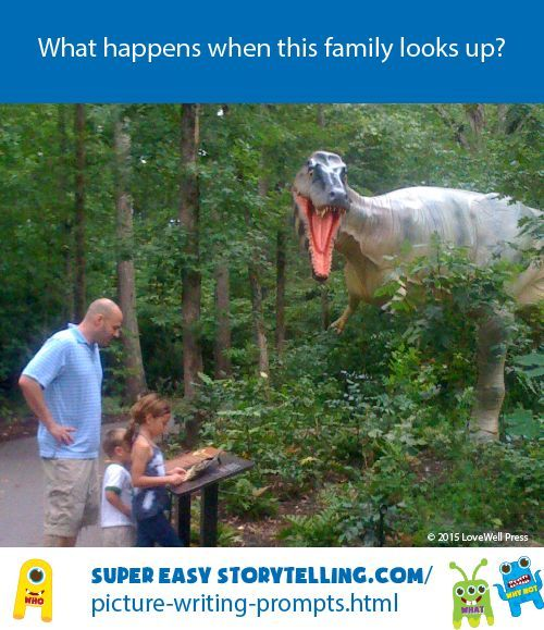 Start a story for kids with this surprising dinosaur picture writing prompt.
