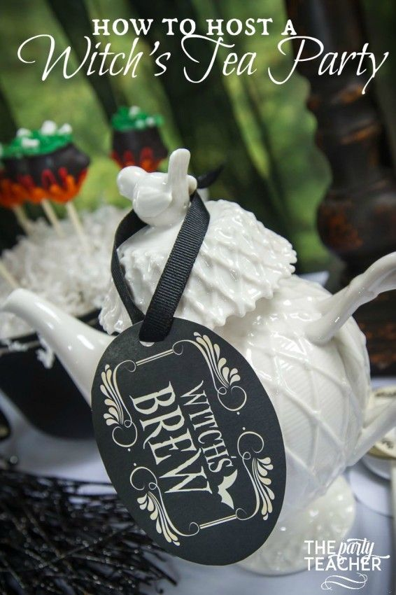 How to Host a Witch's Tea Party by The Party Teacher | http://thepartyteacher.com/2015/10/23/how-to-host-a-witchs-tea-party-put-a-halloween-spin-on-the-classic-tea-party/