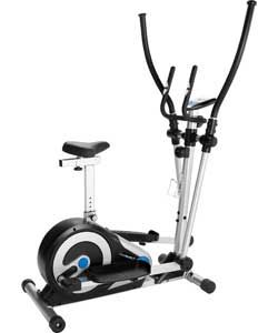 Roger Black Silver Magnetic Cross Trainer and Exercise Bike.