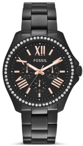 SOLD OUT! Black Rose Gold and Bling-LOVE! Women's Fossil Watch AM4522