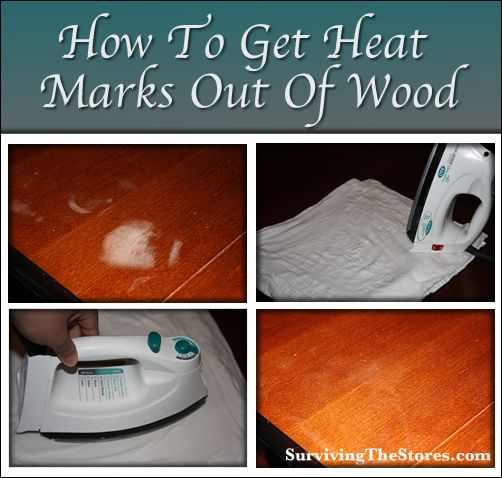 How To Get White Heat Marks Out Of Wood Furniture {Survival Tip Tuesday
