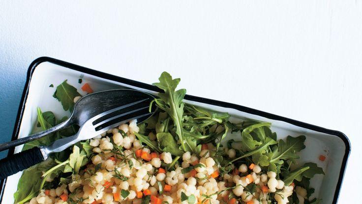 Une recette de taboulé de couscous israélien présentée sur recettes.zeste.tv et Zeste magazine