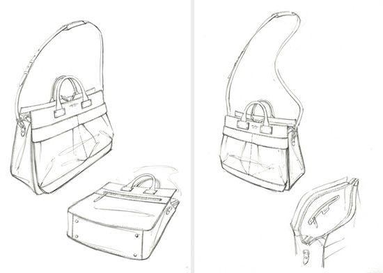 Handbag Sketches Design Sketches Handbags Fashion Flats