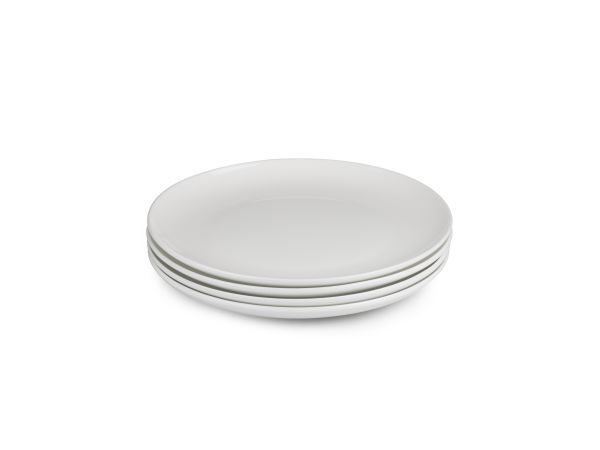 SET OF 4: Yuppiechef Sonnet Coupe Side Plates, Set of 4 - The Yuppiechef range of serveware has a classic design, is made to last, and is sure to suit any kitchen and table setting. These fine bone china coupe side plates are delicate but durable, perfect for any occasion from a formal dinner party to an evening meal with the family.